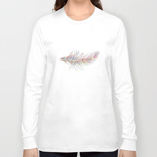 Rainbow Feather  Long Sleeve T-shirt