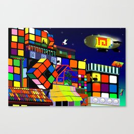 Love in Cubeworld Canvas Print
