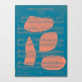 Schubert Sheet Music - Impromptu Canvas Print
