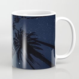 Palm Trees, Night Sky, Stars, Moon Coffee Mug