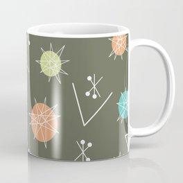 Mid Century Modern Sputnik Starburst Planets 2 Coffee Mug