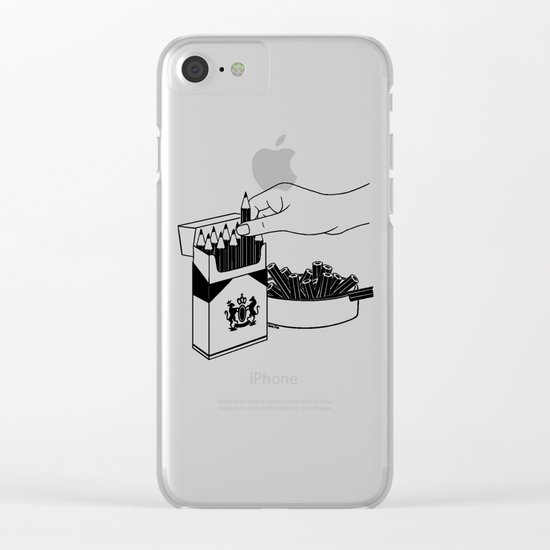 Art Addiction Clear iPhone Case