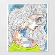 Hideout, watercolor illustration Canvas Print