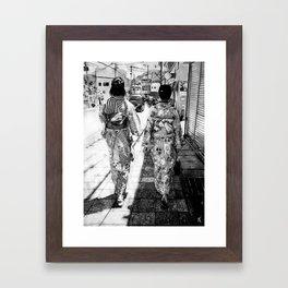 Kyoto   Charcoal B&W Framed Art Print