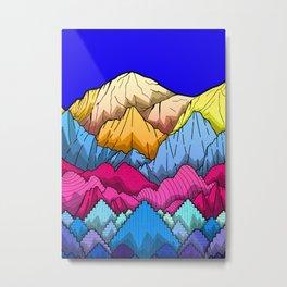 Deep Blue sky over the mountains Metal Print