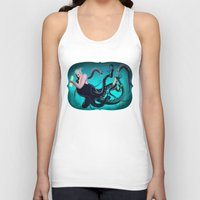 ursula Tank Tops featuring Ursula by Jehzbell Black
