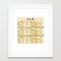bears Framed Art Prints featuring Bears! by Bird & Bow Studios