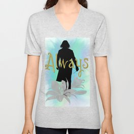 Always: Severus with lilies Unisex V-Neck