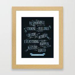 The Responsibility Prayer Framed Art Print