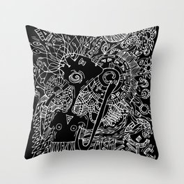 Singer of spring nature Throw Pillow