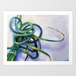 Garlic Scapes Art Print