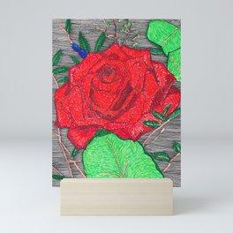 Sketchbook Rose Red Mini Art Print
