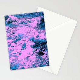 415 2 Pink and Blue Ocean Stationery Cards