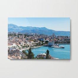 Seafront view on Split city - Croatia Metal Print