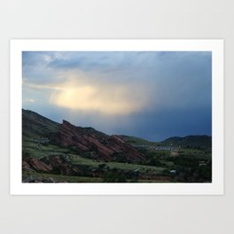 Red Rocks at Dusk Art Print