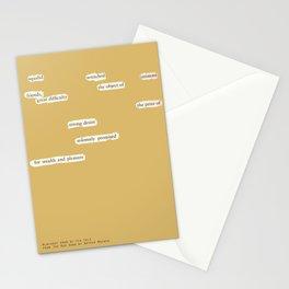 Blackout Poem {024.} Stationery Cards