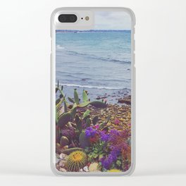 Costal Cacti Clear iPhone Case