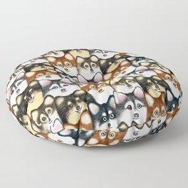 Pomsky Pattern Floor Pillow