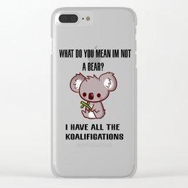 Kowala Bear Clear iPhone Case