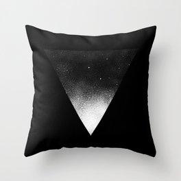 White Dot Triangle Throw Pillow