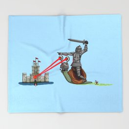 The Knight and the Snail - Random edition Throw Blanket