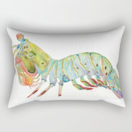 Peacock Mantis Shrimp Rectangular Pillow