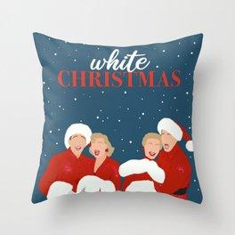 White Christmas Movie Poster, Minimalist Movie Print, Holiday Art Decor Throw Pillow