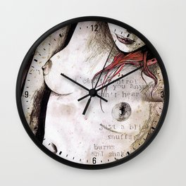 Rotten Apple (nude redhead girl, erotic graffiti portrait) Wall Clock
