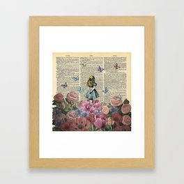 Alice In Wonderland Magical Garden Framed Art Print