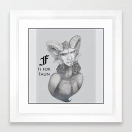 F is for Faun Framed Art Print