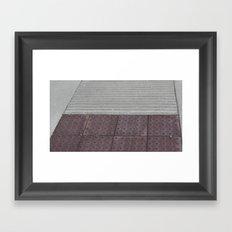 Cement Ramp Framed Art Print