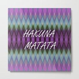 Hakuna Matata Purple Metal Print