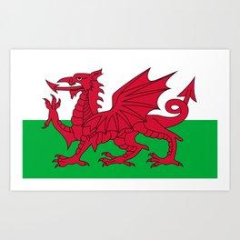 Flag of Wales - Welsh Flag Art Print