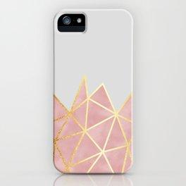Pink & Gold Geometric iPhone Case