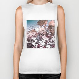 Frosty Transformation to Winter - An abstracted impression Biker Tank