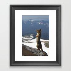Posing Framed Art Print