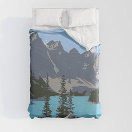 Moraine Lake- A Mountain Landscape Dream Duvet Cover