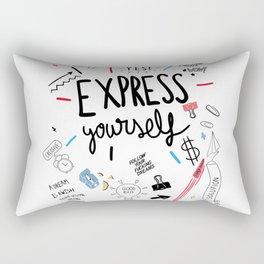 Express your talent Rectangular Pillow