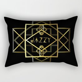 Jazzy Letterform and Pattern Rectangular Pillow
