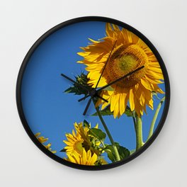 Sunflower Bee & Moon Wall Clock