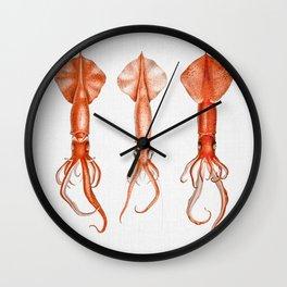 Squids - Watercolor Wall Clock