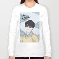 ezra koenig Long Sleeve T-shirts featuring Hugs not Ugh's  by Juliana Fernandez Acosta
