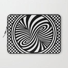 Black & White Twist & Check Design Laptop Sleeve