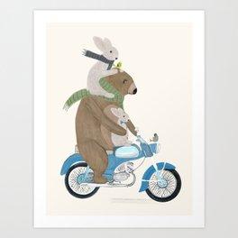 biker buddies Art Print