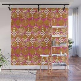 lotus diamond pink Wall Mural