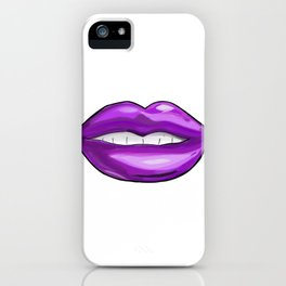 Purple Lips iPhone Case