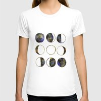 moon phases T-shirts featuring Phases of the Moon by Lindsay Milgrim