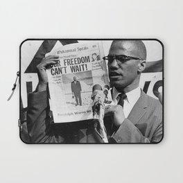 Our Freedom Can't Wait - Malcolm X Laptop Sleeve