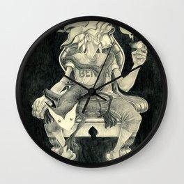 Sitting Heart Wall Clock