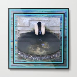 Illusions of Youth Fountain Metal Print